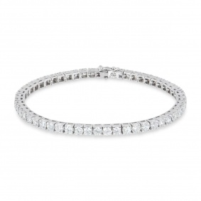 White Gold Diamond Line Bracelet 7.14ct